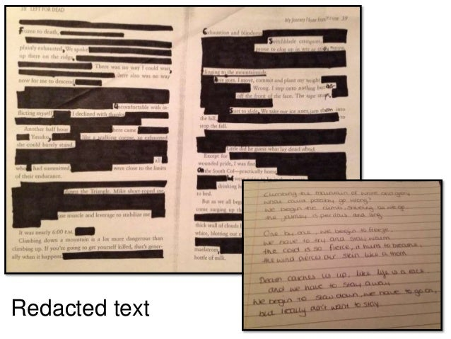 Redacted text