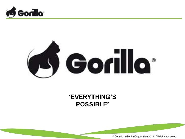 'EVERYTHING'S  POSSIBLE'           © Copyright Gorilla Corporation 2011. All rights reserved.