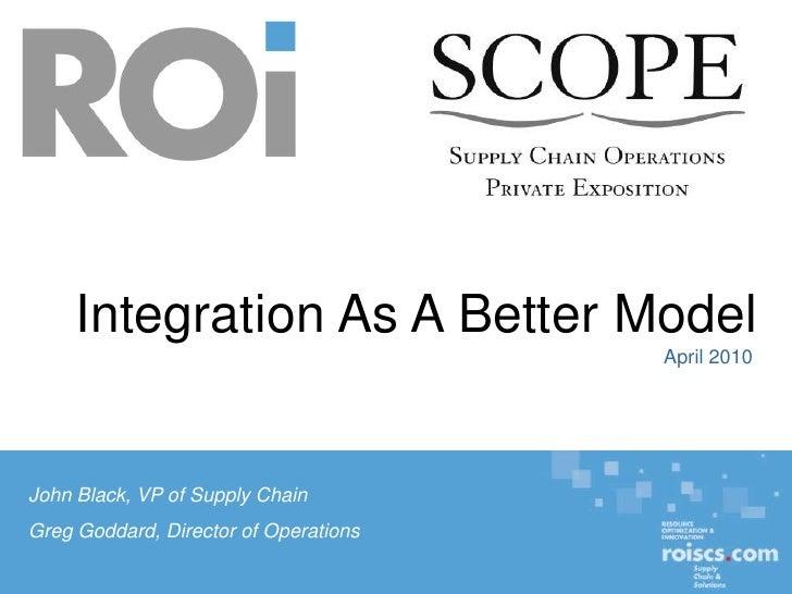 Integration As A Better Model                                                                                             ...