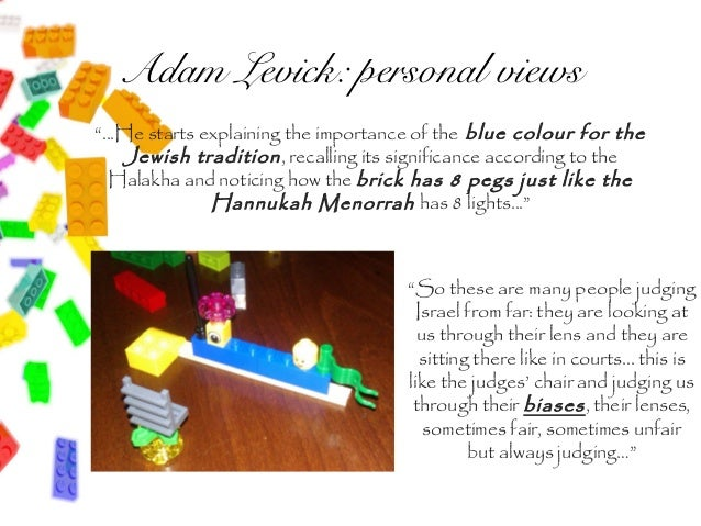 """Adam Levick: personal views""""...He starts explaining the importance of the blue colour for the    Jewish tradition , recall..."""