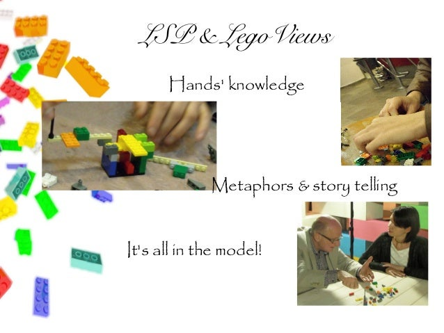 LSP & LegoViews      Hands knowledge             Metaphors & story tellingIts all in the model!