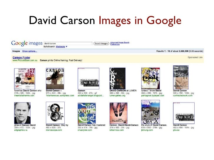 David Carson  Images in Google