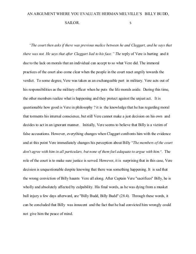 billy budd summary pdf