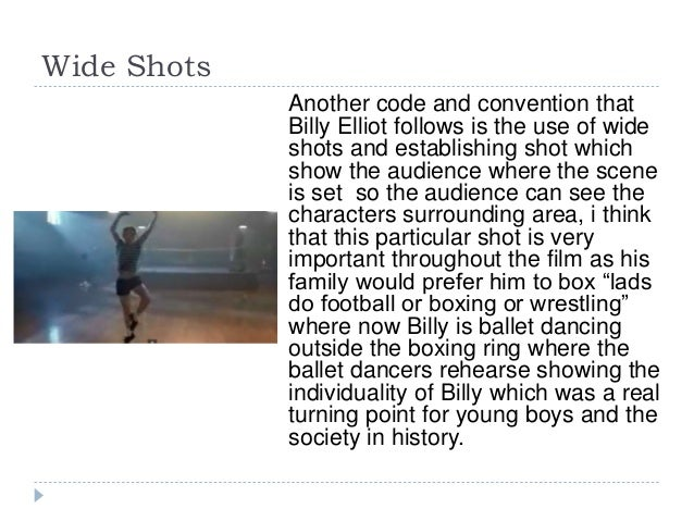 billy elliot character analysis A resource for teachers many of the characters use bad language and again this may be a problem for your class introduce the informal expressions used in billy elliot(see vocabulary builder on page 3 of this resource) put them into.