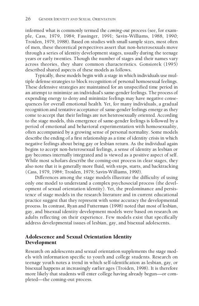 Troiden sexual identity