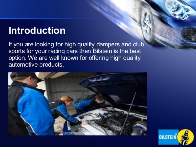 Bilstein – Dampers for Racing Cars
