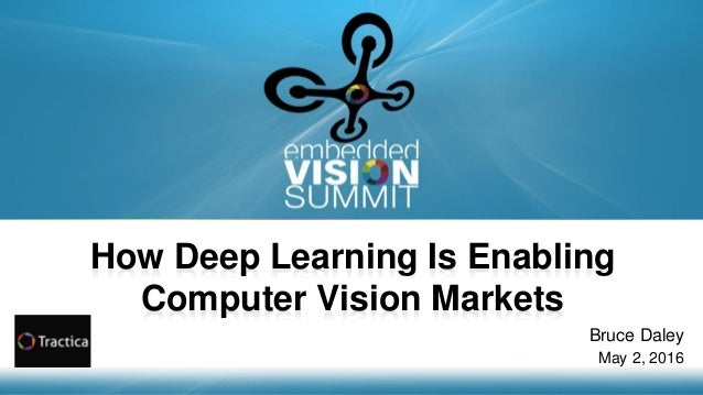 Copyright © 2016 Tractica 1 How Deep Learning Is Enabling Computer Vision Markets Bruce Daley May 2, 2016