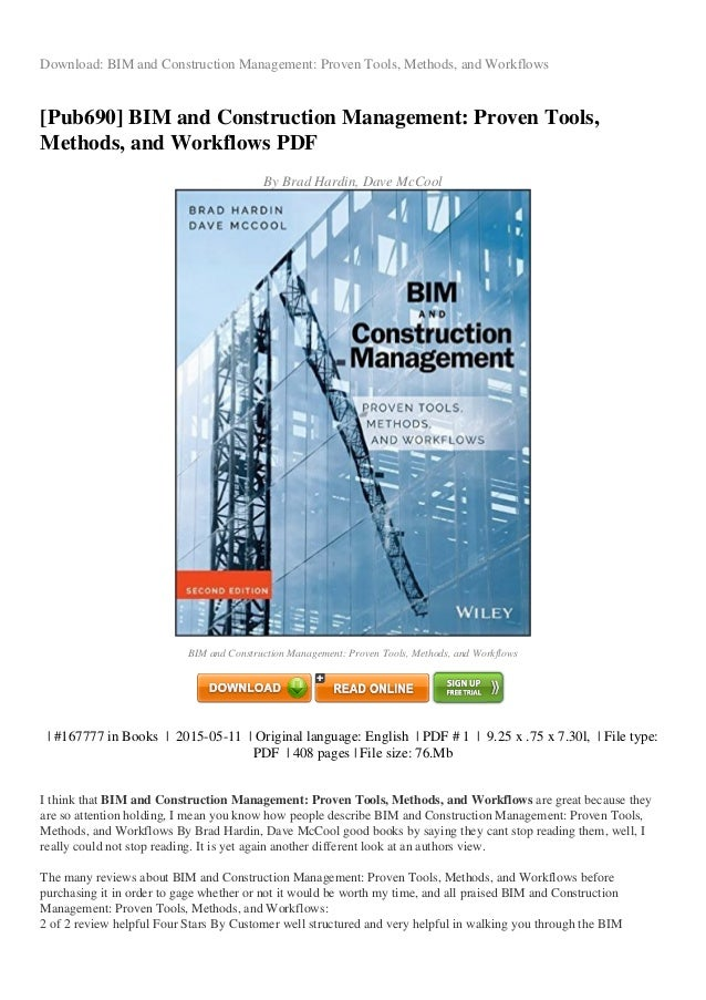 Review bim and construction management proven tools methods and workf download bim and construction management proven tools methods and workflows pub690 fandeluxe Choice Image