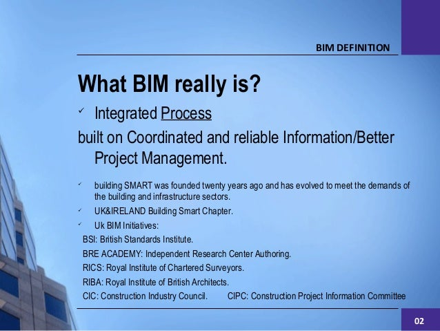 Bim level 2 information management for Royal institute of chartered architects
