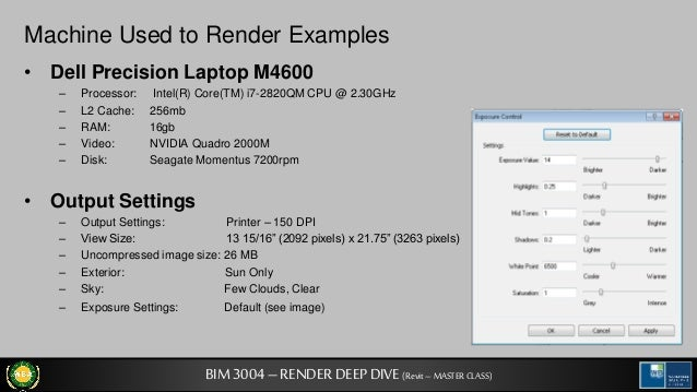 Archi tech a look at revit rendering settings - Revit exterior rendering settings ...