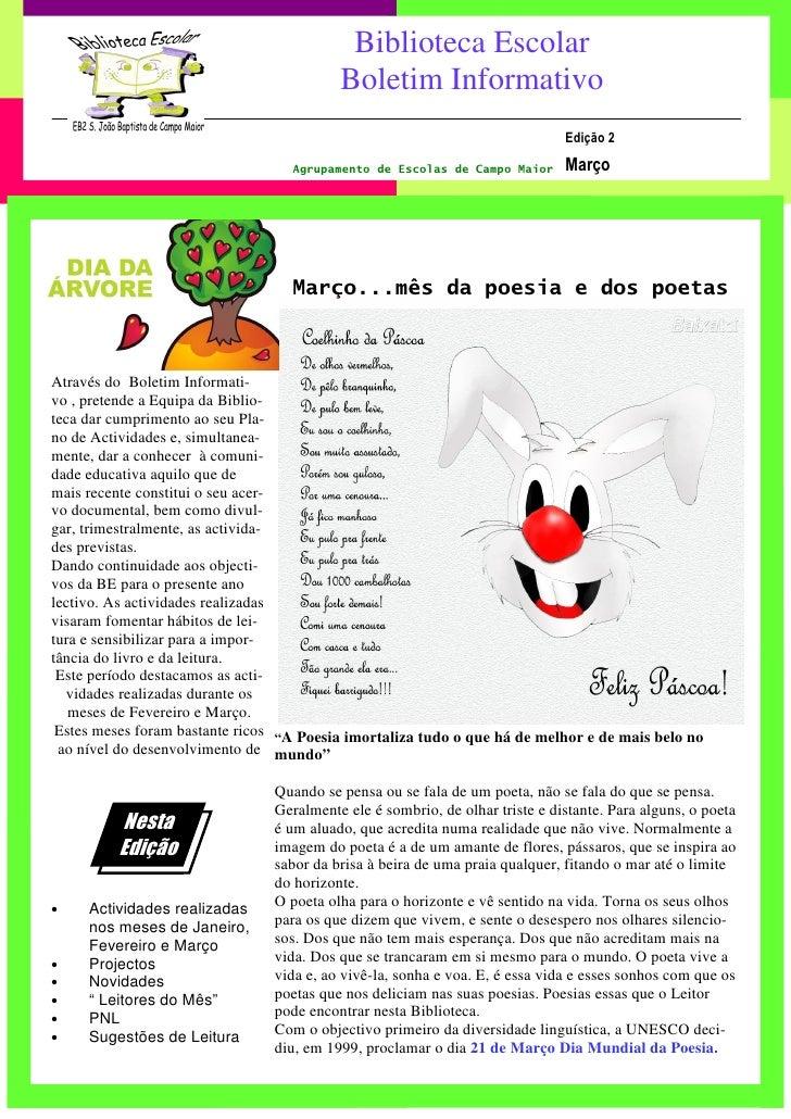 1                                            Biblioteca Escolar                                           Boletim Informat...