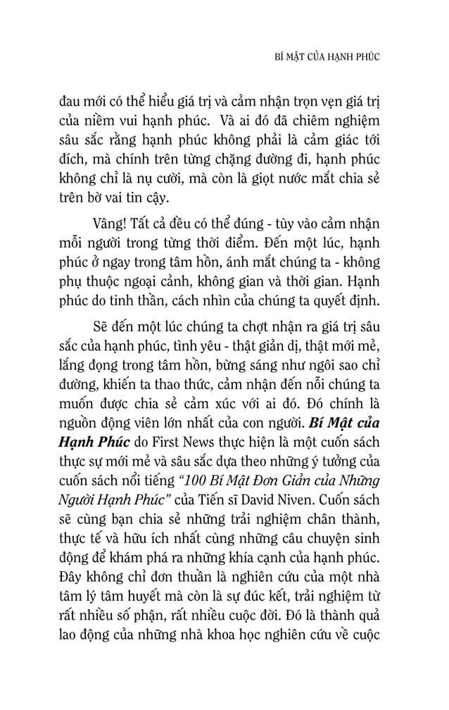 11 BÍ MAÄT CUÛA HAÏNH PHUÙC Cuoäc soáng cuûa baïn phaûi coù muïc ñích vaø yù nghóa Chaéc haún ñaõ töøng coù nhöõng luùc ba...