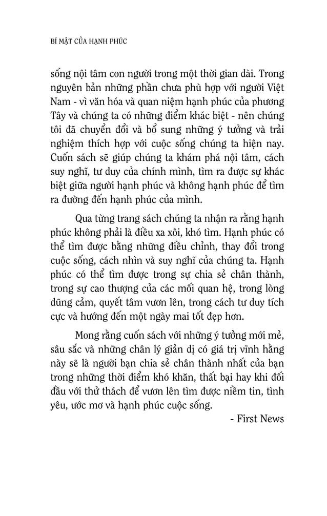 12 BÍ MAÄT CUÛA HAÏNH PHUÙC Baïn coù theå baän bòu vôùi coâng vieäc hay chuù taâm tôùi moät ñieàu naøo ñoù trong moät giai...