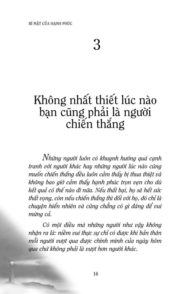 18 BÍ MAÄT CUÛA HAÏNH PHUÙC quyeàn Myõ luùc ñoù bò dö luaän phaûn ñoái. Vaø chính vì khoâng daùm ñoùn nhaän thaát baïi neâ...
