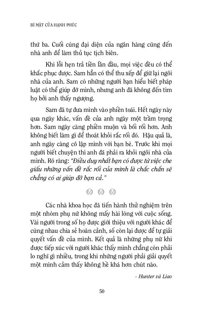 52 BÍ MAÄT CUÛA HAÏNH PHUÙC Neáu baïn hoûi, cuï seõ noùi raèng cuï coù caùi thuù laáp ñaày moät ngaøy baèng nhöõng hoaït ñ...