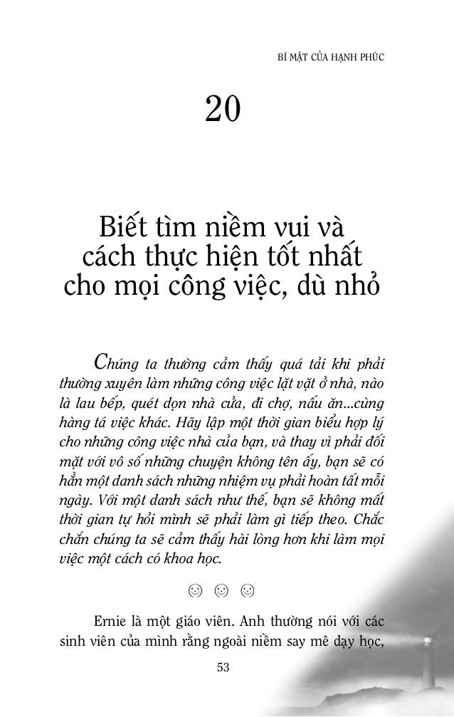 55 BÍ MAÄT CUÛA HAÏNH PHUÙC Khoâng neân quaù che chôû, baûo boïc cho mình vaø ngöôøi thaân Khoâng ai trong chuùng ta muoán...