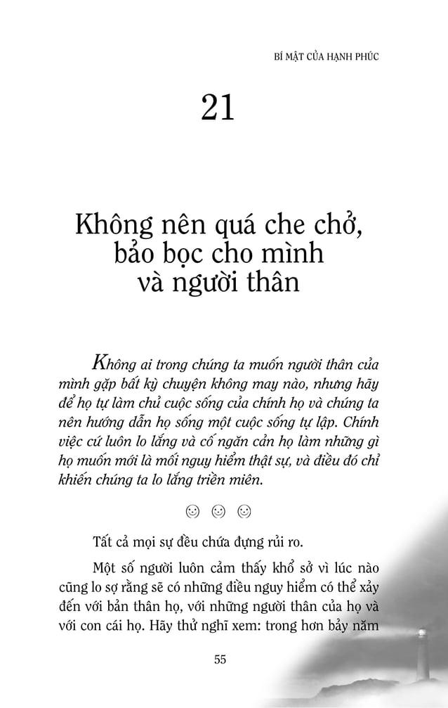 57 BÍ MAÄT CUÛA HAÏNH PHUÙC Neáu thöïc söï khaùt khao vaø quyeát taâm, baïn coù theå ñaït ñöôïc nhöõng gì mình muoán Chuùn...