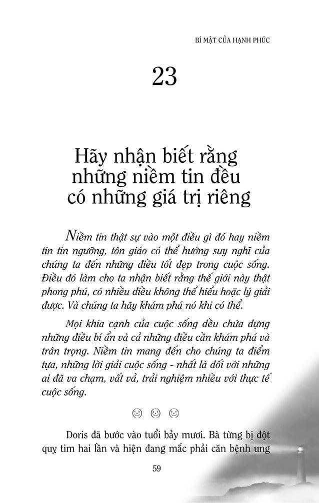61 BÍ MAÄT CUÛA HAÏNH PHUÙC Haõy thöïc hieän nhöõng ñieàu baïn ñaõ höùa Khoâng ai laøm chaäm söï tieán boä cuõng nhö laøm ...
