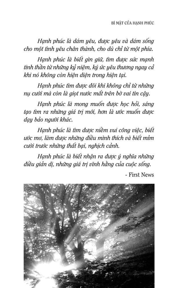 BÍ MAÄT CUÛA HAÏNH PHUÙC Khaùm phaù Haïnh phuùc Cuoäc soáng Khi coøn ôû tuoåi nieân thieáu, döôøng nhö moïi ngöôøi chuùng ...