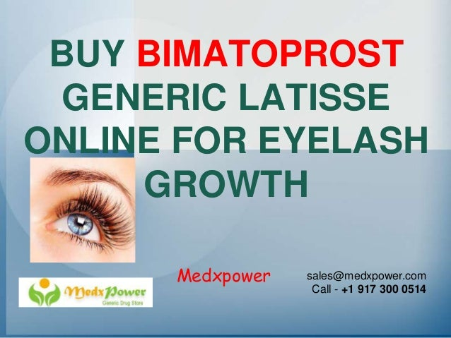 Where to buy generic latisse online