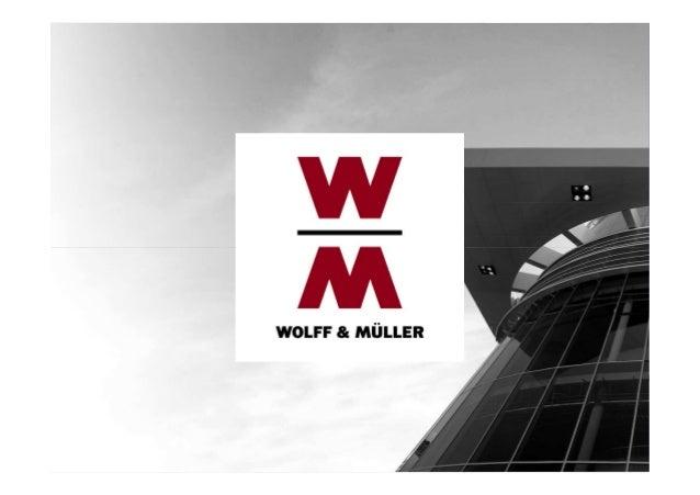 IBM TRIRIGA@Universities 28.10.2013  Dipl. Ing. Andreas Salzer WOLFF & MÜLLER Holding Informationstechnologie  Dienstleist...