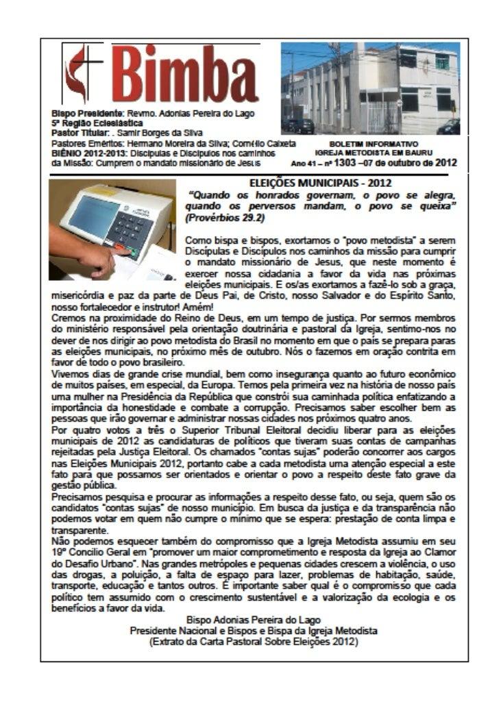Bimba 07 10 2012   eleições municipais
