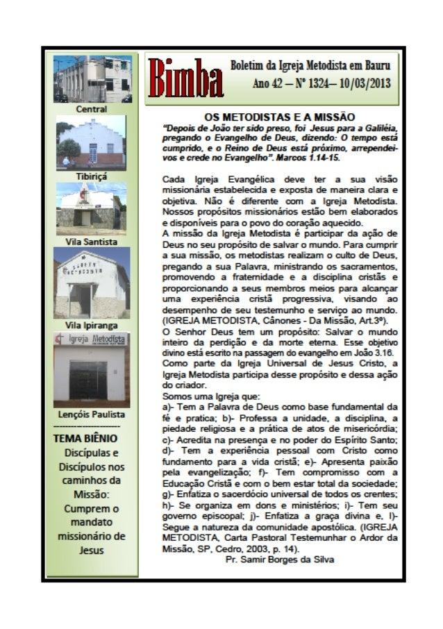 Bimba 10 03 2013  os metodista e a missão