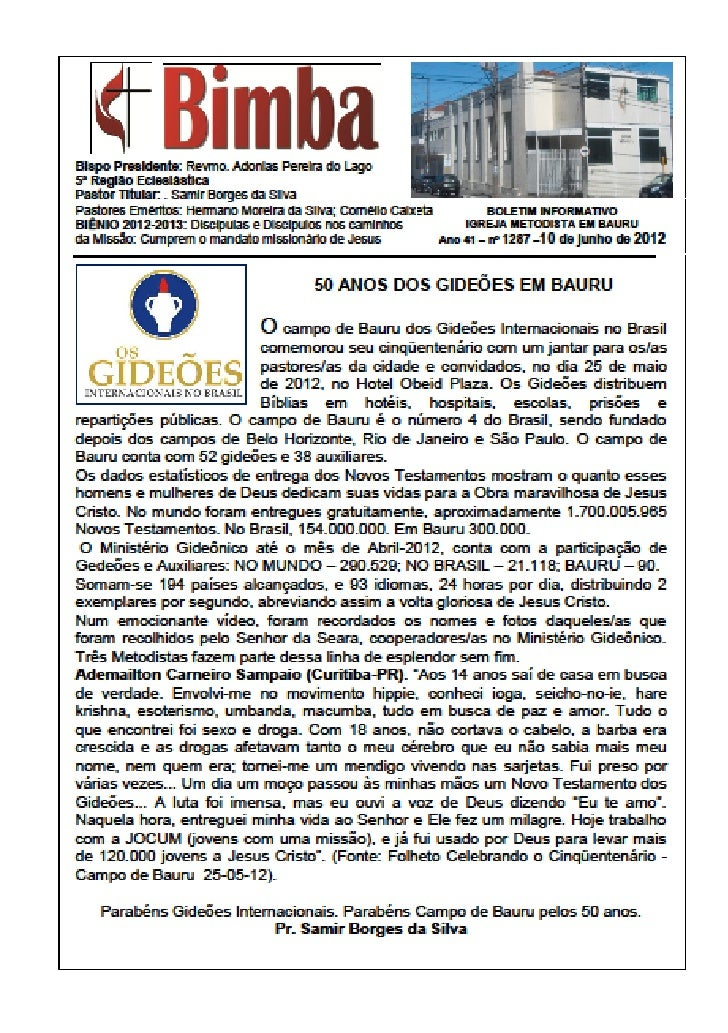 Bimba  10 06 2012   50 anos dos gideoes em bauru