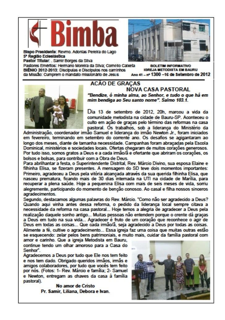 Bimba 16 09 2012 ação de graças nova casa pastoral