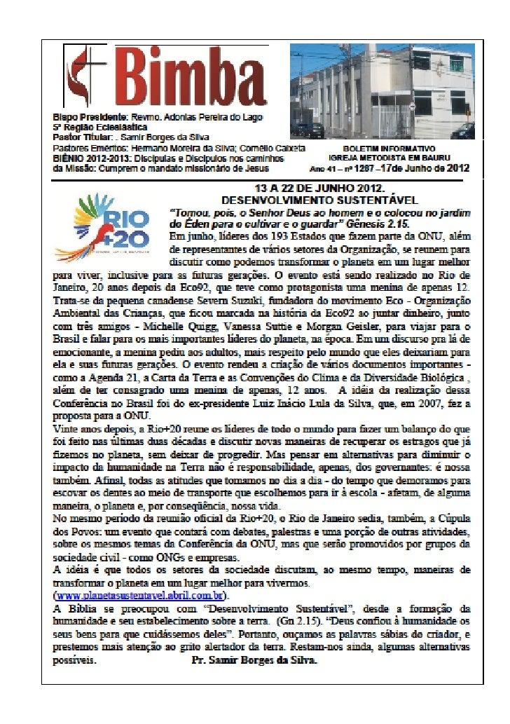 Bimba 17 06 2012   desenvolvimento sustentável