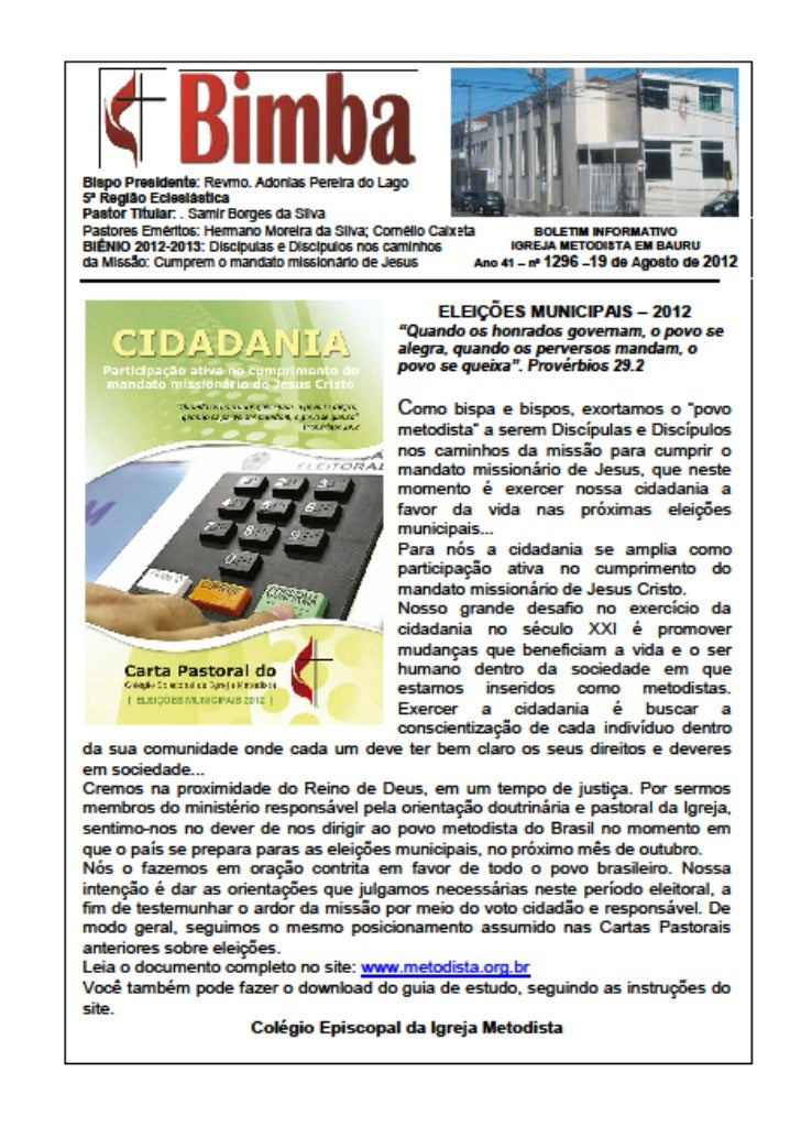 Bimba 19 08 2012  eleiçoes municipais