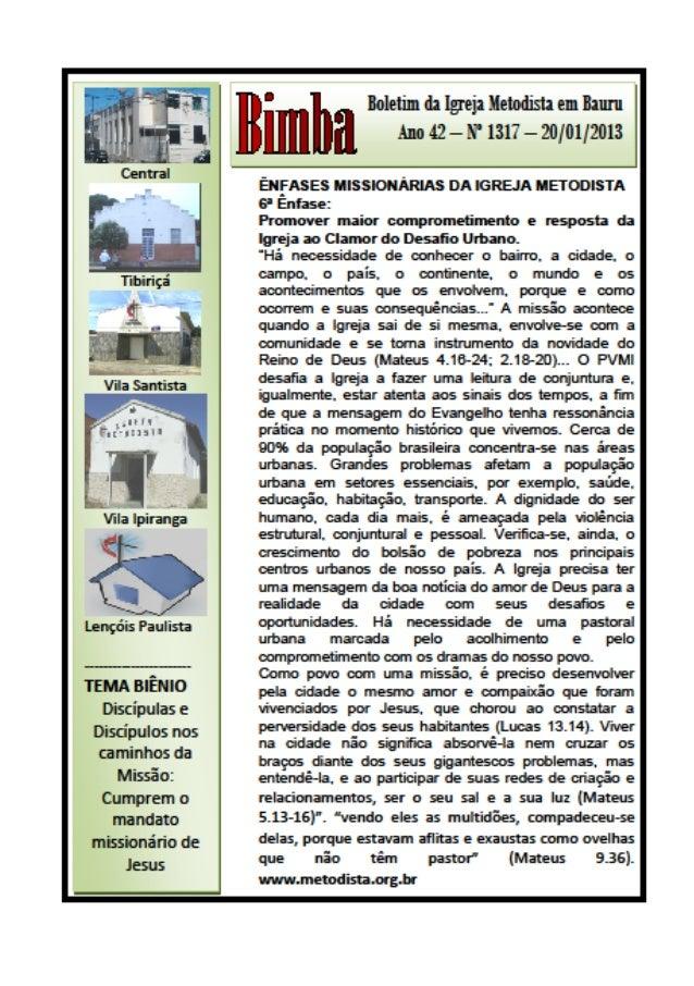 Bimba 20 01 2013   6 enfase missionária  da im