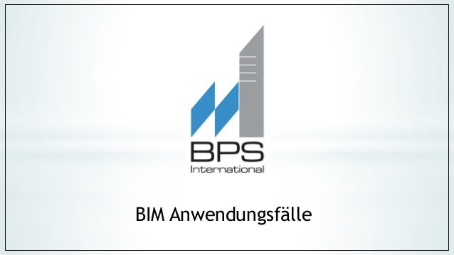 BIM Anwendungsfälle