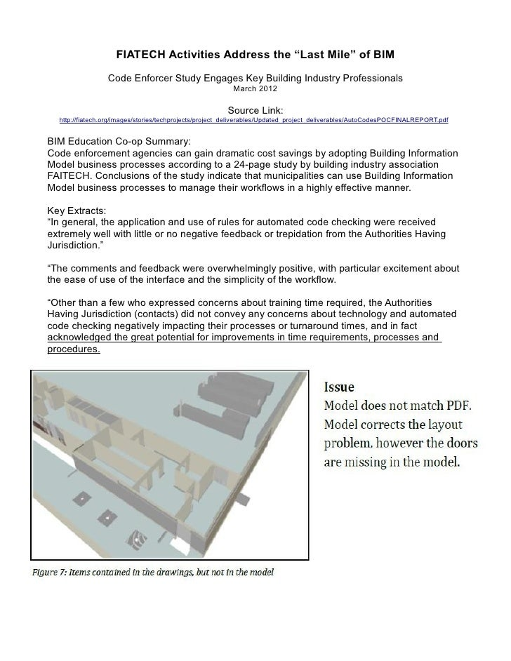 """FIATECH Activities Address the """"Last Mile"""" of BIM                 Code Enforcer Study Engages Key Building Industry Profes..."""