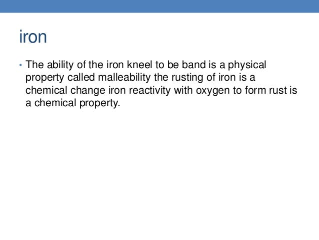 chemical properties of iron