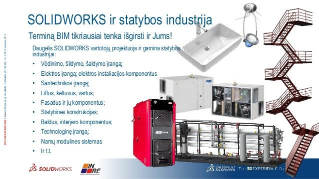 3DS.COM/SOLIDWORKS©DassaultSystèmes|ConfidentialInformation|5/18/2015|ref.:3DS_Document_2014 SOLIDWORKS ir statybos indust...