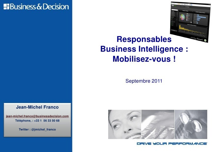 Responsables                                          Business Intelligence :                                            M...