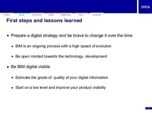 SILKAYTONG HEBEL FERMACELL FELSMULTIPOR ECOLOOP First steps and lessons learned ■ Prepare a digital strategy and be brave ...