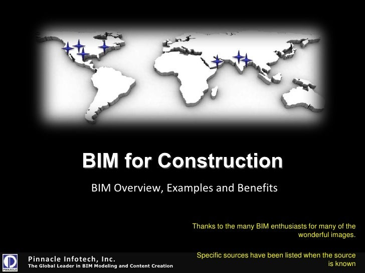 BIM OverviewA little something for architects, engineers, manufacturers, contractors, owners and more<br />Presented by: M...