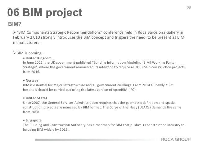 "28 06 BIM project Ø""BIM  Components  Strategic  Recommenda6ons""  conference  held  in  Roca  Barcelona ..."