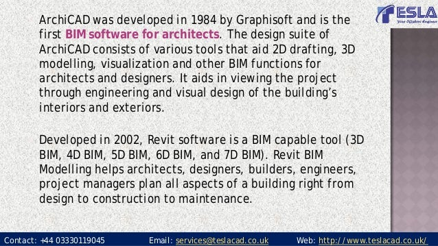 Bim software: Archicad or Revit For Architects?