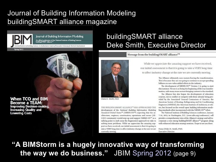 Journal of Building Information ModelingbuildingSMART alliance magazine                              buildingSMART allianc...