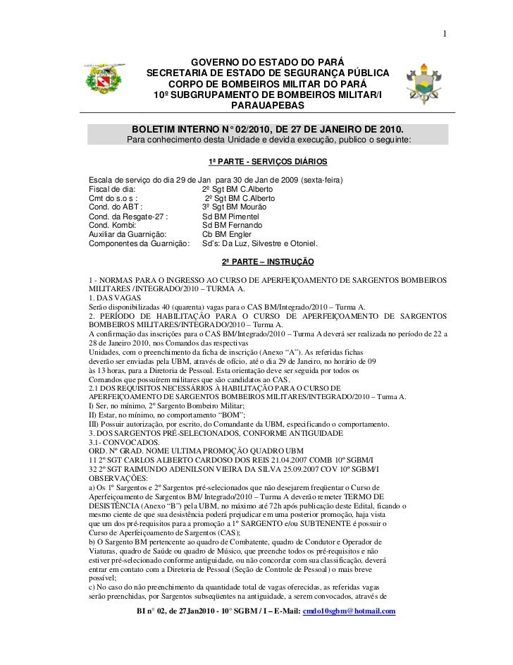1                         GOVERNO DO ESTADO DO PARÁ                 SECRETARIA DE ESTADO DE SEGURANÇA PÚBLICA             ...