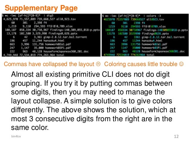 Almost all existing primitive CLI does not do digit grouping. If you try it by putting commas between some digits, then yo...