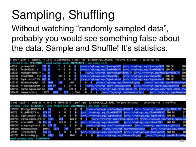 """Sampling, Shuffling Without watching """"randomly sampled data"""", probably you would see something false about the data. Sampl..."""