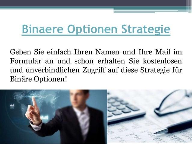 Strategie für binäre Aktienoptionen