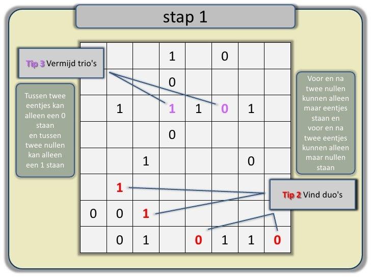hoe los je een moeilijke binaire puzzel op?