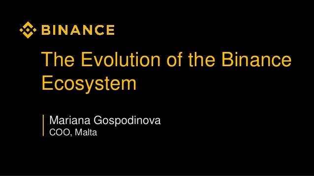 The Evolution of the Binance Ecosystem Mariana Gospodinova COO, Malta