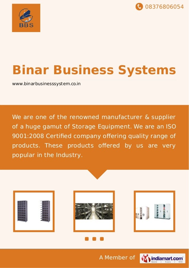 08376806054 A Member of Binar Business Systems www.binarbusinesssystem.co.in We are one of the renowned manufacturer & sup...