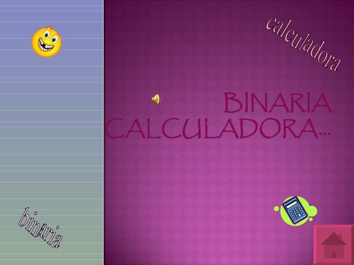 calculadora  binaria